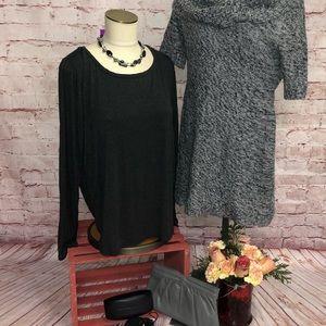 Cable & gauge long sleeve top women's XL